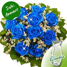 10 blue roses: Send New Year Gifts to Germany