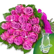 Bunch of 20 purple roses: Thank You Flowers Germany