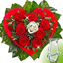 Rose Bouquet Amore with vase: Flower Bouquets