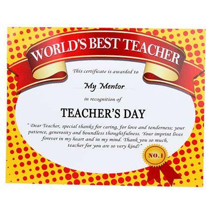 world s best teacher certificate