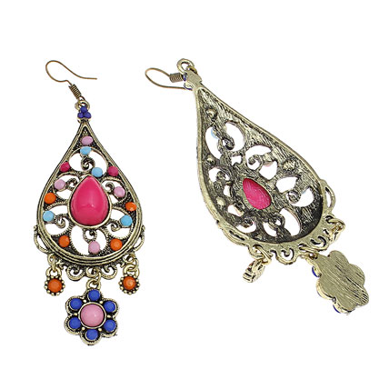 Golden Peacock Fashion Statement Teardrop Earring