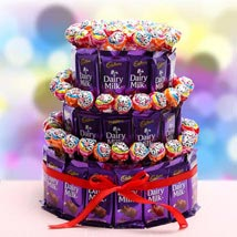 3 Tier Choco Pop Cake: Chocolates