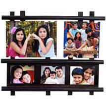 5 Photos Wooden Collage: Thank You Photo Frames