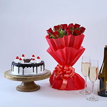 Black Forest and Flowers:  Cake Delivery in Raipur