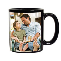 Black Personalized Coffee Mug: Fathers Day Personalised Mugs