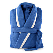 Blue and White Bathrobe For Him: Send Romantic Gifts