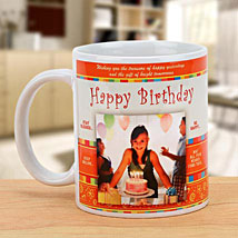 Cheers On the Birthday: Send Personalised Mugs for Wife