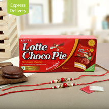 Choco Pie With Two Rakhis: Send Rakhi to Bengaluru