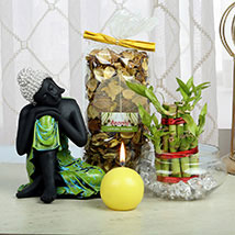 Composed Buddha Hamper: Good Luck Plants for Him