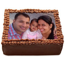 Delicious Chocolate Photo Cake: Photo Cakes to Kanpur