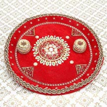 Divinity of the Red: Send Diwali Pooja Thali to Patna