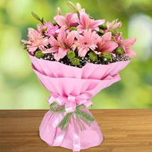 Exotic Charisma of Pink: Valentines Day Special Lilies