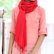 Fab Red Stole: Apparel Gifts