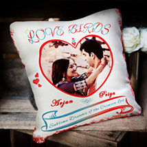 For the Love Birds: Personalised Cushions for Her