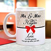 Gravity of love: Personalised Mugs Delhi