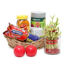 Healthy Hamper with Bamboo: Send House Warming Gift Baskets