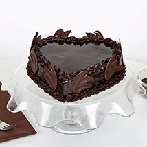 Heart Shape Truffle Cake: Mothers Day Cakes