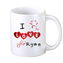 I Love Personalized Coffee Mug: Send Personalised Mugs for Him