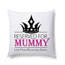 Lovely Personalized Cushion For Mom: Personalised Cushions Kolkata