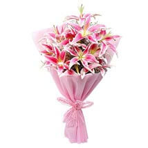 Luxurious Lillies: Flower Bouquets Mumbai