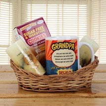 Orange Basket For Grandpa: Gift Baskets