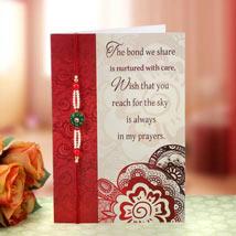 Perfect Rakhi Greeting: Rakhi with Greeting Card