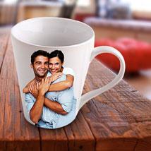Personalized Ceramic Photo Mug: Valentine Personalised Mugs