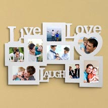 Personalized Live Love Laugh Frame: Fathers Day Photo Frames
