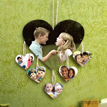 Personalized Love On Wall: Rakhi With Photo Frames