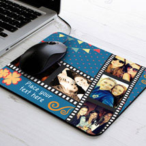 Picture Strip Personalized Mouse Pad: Personalised Gifts for Him