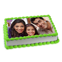 Pineapple Photo Cake: Photo Cakes to Kolkata