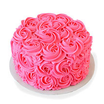 Pink Rose Cake: Cakes Welcome New Born