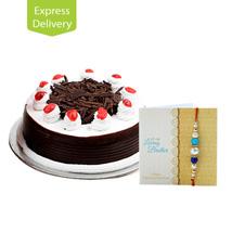 Rakhi With Eggless Cake: Send Rakhi with Cakes