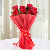 Red Roses Bouquet: Valentine Flowers Howrah