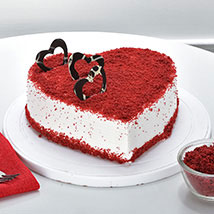 Red Velvet Heart Cake: Heart Shaped Cakes Jaipur