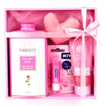 Refreshing Pink Hamper: Cosmetics & Spa Hampers - Mothers Day