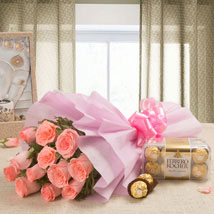 Simple Elegance: Flowers N Chocolates - Mother's Day