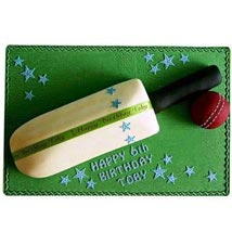 Splendid Cricket Bat Ball Cake:  Cakes for Him
