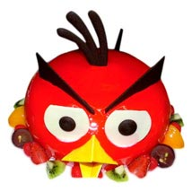 The Red Angry Bird Cake:  Cakes to Welcome New Born