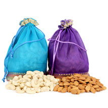 Two Dry Fruits Potli Bags: Gourmet Gifts for Him