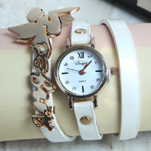 White Braided Wrist Watch