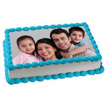 Yummy Vanilla Photo Cake: Photo Cakes for Anniversary