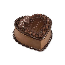 Chocolate Heart Cake: Fathers Day Gifts - Singapore