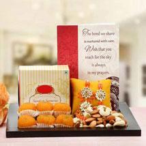 Gorgeous Orange Loomba Rakhi: