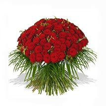 One Hundred Red Roses Bouquet: Send Flowers to Newcastle